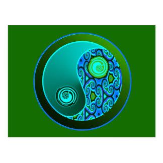 De Wervelingen Yin Yang van Aqua Briefkaart