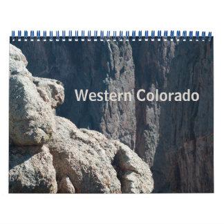 De westerne Kalender van de Foto van Colorado
