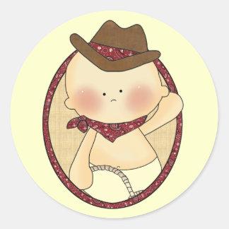 De westerne Stickers van de Pret van Lil Cowpoke