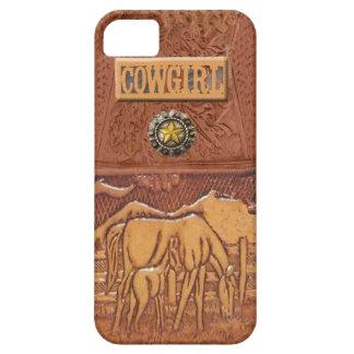 """De Westerne Veedrijfster IPhone 5 van het """"paard & Barely There iPhone 5 Hoesje"""