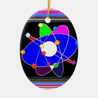 De wetenschap van het ATOOM onderzoekt de SCHOOL Keramisch Ovaal Ornament