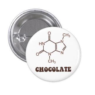 De wetenschappelijke Molecule van de Theobromine Ronde Button 3,2 Cm