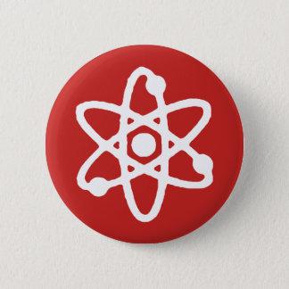 De wetenschapsspeld van het atoom ronde button 5,7 cm