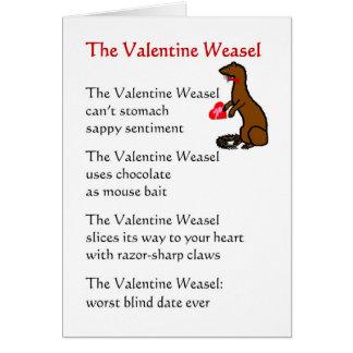 De wezel van Valentijn - grappig gedicht voor Wenskaart
