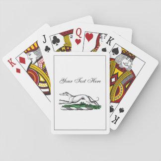 De Whippet die van de windhond het Heraldische Pokerkaarten
