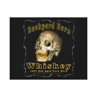 De Whisky van de Brandwond van de binnenplaats Canvas Afdruk
