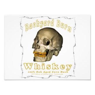 De Whisky van de Brandwond van de binnenplaats Foto Afdruk