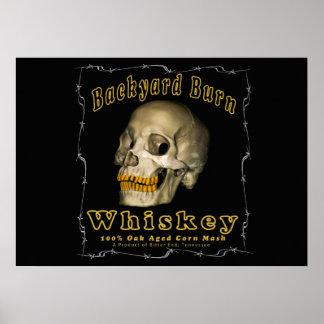 De Whisky van de Brandwond van de binnenplaats Poster