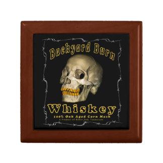 De Whisky van de Brandwond van de binnenplaats Vierkant Opbergdoosje Small