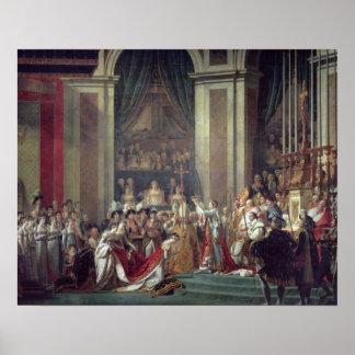 De wijding van de Keizer Napoleon Poster