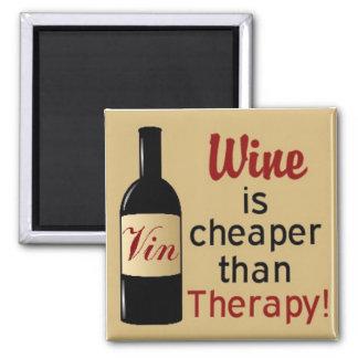 De wijn is goedkoper dan therapie vierkante magneet