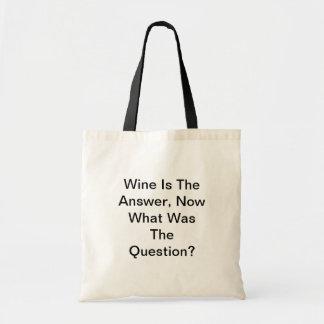 De wijn is het Antwoord, nu wat was de Vraag? Budget Draagtas