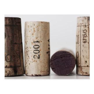 De wijn kurkt met data briefkaart