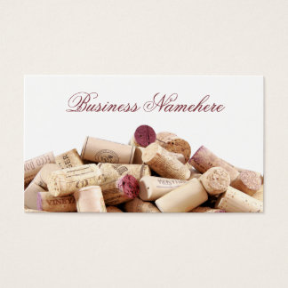 De wijn kurkt Visitekaartjes