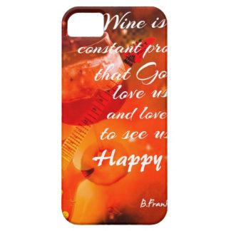 De wijn maakt ons gelukkig barely there iPhone 5 hoesje