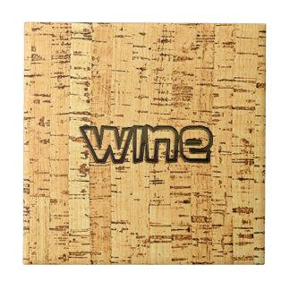 de wijn simuleerde in reliëf gemaakt cork tegeltje