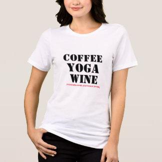 de wijn van de koffieyoga ziet wat na grappige t shirt