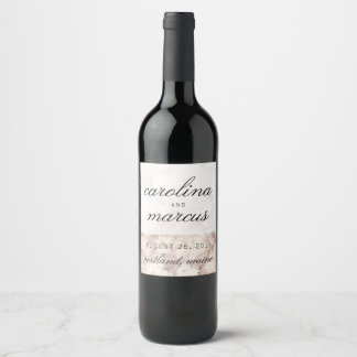 De Wijn van het huwelijk etiketteert het Decor van Wijnetiket
