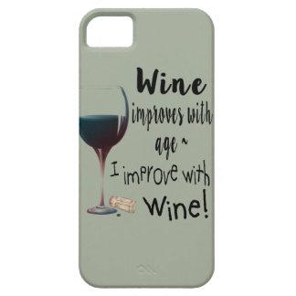 De wijn verbetert met leeftijd die ik met de barely there iPhone 5 hoesje