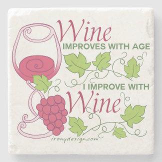 De wijn verbetert met Leeftijd Stenen Onderzetter