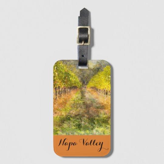 De Wijngaard van de Vallei van Napa in het Label Bagagelabel