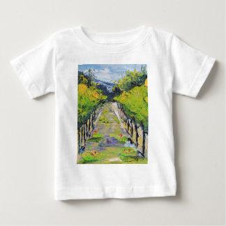 De wijnmakerij van Californië, de wijnstokken van Baby T Shirts