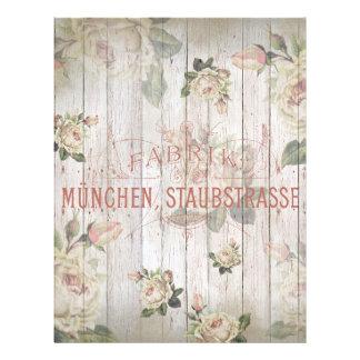 de wijnoogst, Duitsland, rozen, shabbychic Flyer 21,6 X 27,9 Cm