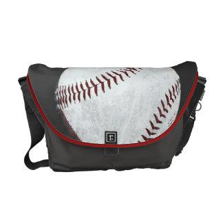 de wijnoogst gestileerde zak van de honkbalbal courier bag