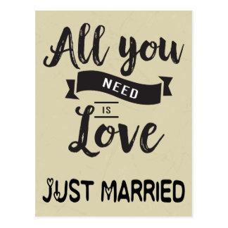 De wijnoogst huwde enkel Tan & de Zwarte Liefde Briefkaart