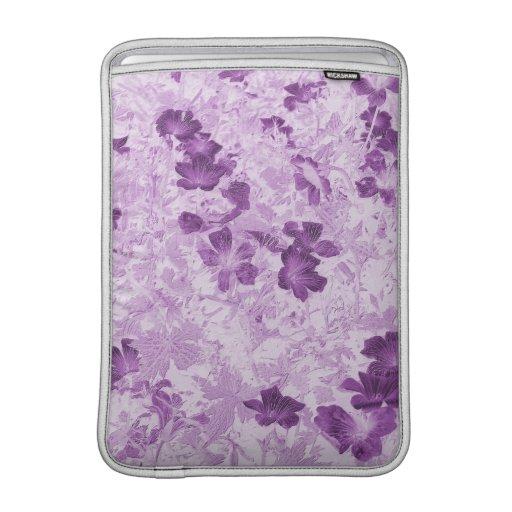 De wijnoogst inspireerde Bloemen Mauve 13 Duim MacBook Air Sleeve