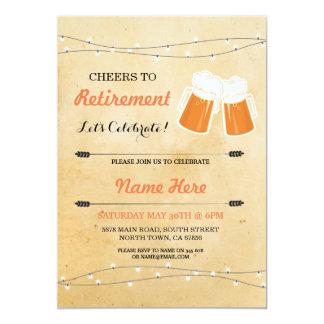 De wijnoogst juicht aan de Bieren van de Partij 12,7x17,8 Uitnodiging Kaart