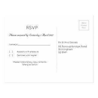 De wijnoogst nam RSVP toe Briefkaart