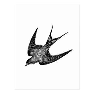 De wijnoogst slikt Illustratie - Antiek Vogel Briefkaart