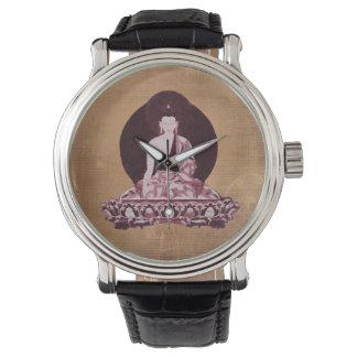 De Wijnoogst van Boedha Grunge van Shakyamuni Horloges