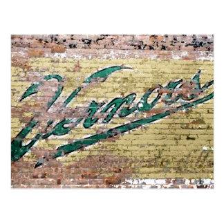 De Wijnoogst van de Bakstenen muur van Ann Arbor Briefkaart
