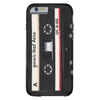 De wijnoogst van de Band van de cassette Tough iPhone 6 Hoesje
