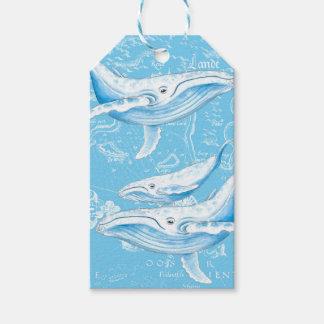 De Wijnoogst van de Familie van Blauwe vinvissen Cadeaulabel