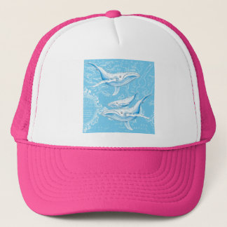 De Wijnoogst van de Familie van Blauwe vinvissen Trucker Pet