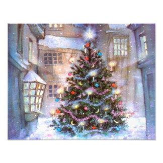 De Wijnoogst van de kerstboom Foto Afdruk