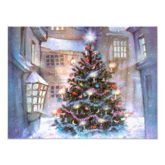 De Wijnoogst van de kerstboom Fotografische Afdruk