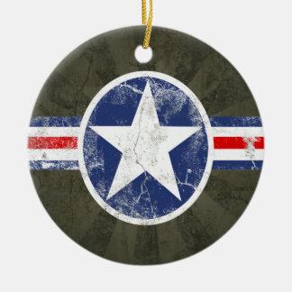 De Wijnoogst van de Korpsen van de Lucht van het Rond Keramisch Ornament