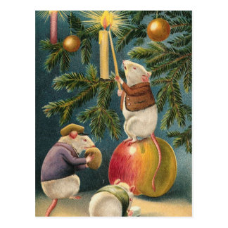 De Wijnoogst van de Muizen van Kerstmis Briefkaart