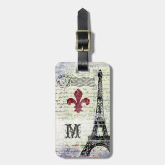 De Wijnoogst van de Toren van Eiffel kijkt het Kofferlabels