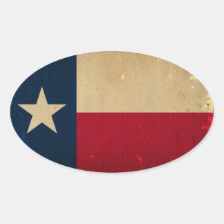 De WIJNOOGST van de Vlag van de Staat van Texas Ovale Sticker