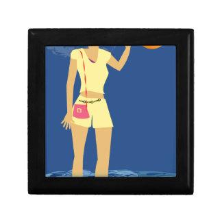De Wijnoogst van de Vrouw van het strand Decoratiedoosje