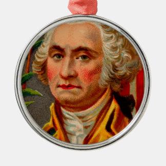 De Wijnoogst van George Washington Zilverkleurig Rond Ornament