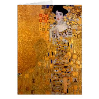 De Wijnoogst van het Portret van Gustav Klimt Kaart
