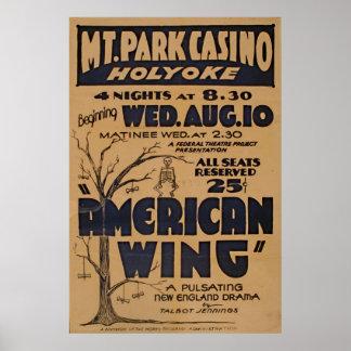 De Wijnoogst van het Spel van het Casino van het Poster