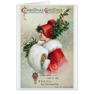 """De Wijnoogst van Kerstmis """"van de Groeten"""" Briefkaarten 0"""
