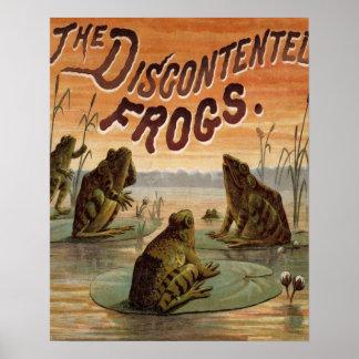 De Wijnoogst van kikkers en van de Stootkussens Poster